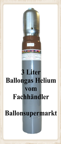 die 3 Liter Ballongas-Helium-Flasche vom Fachhandel Ballonsupermarkt