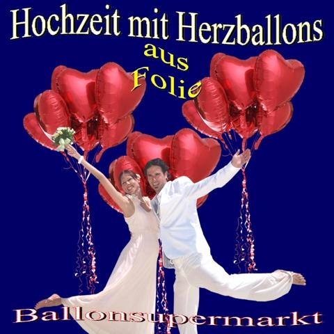 Herzluftballons, Folieballons zur Hochzeit