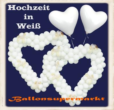 Hochzeit in Weiß Luftballons