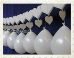 Luftballons Hochzeit. Girlanden mit Luftballons
