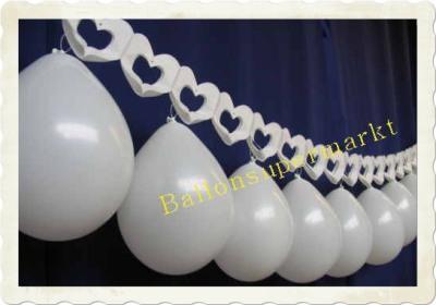 Luftballons Hochzeit, Herzgirlande mit Luftballons