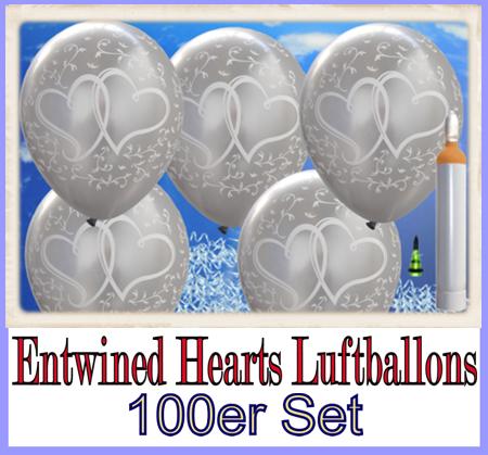Entwined Hearts Luftballons zur Hochzeit steigen lassen