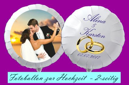 Fotoballon zur Hochzeit. 2-seitig