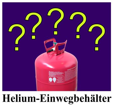 Helium-Einwegbehälter
