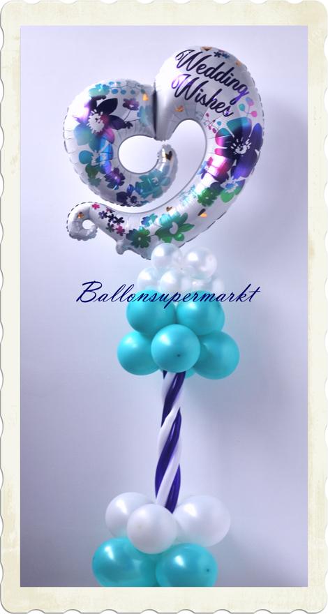 luftballons hochzeit ballondekoration