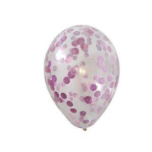 konfettiballon-rosa
